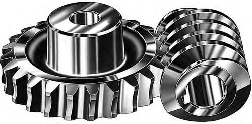 worm gear / straight-toothed / wheel / hub