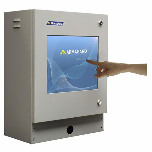 compact enclosure / rectangular / mild steel / protection