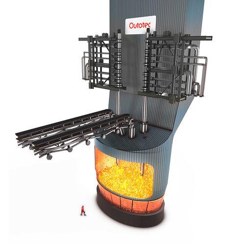 melting furnace / pit / gas / for metallurgy