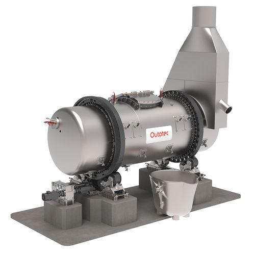 melting furnace / casting / horizontal / rotating