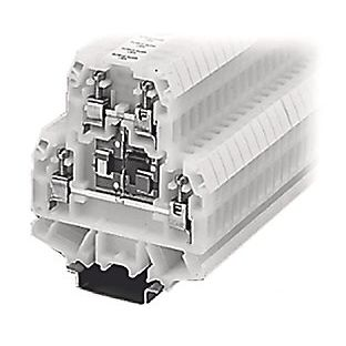 screw connection terminal block / DIN rail-mounted / fused