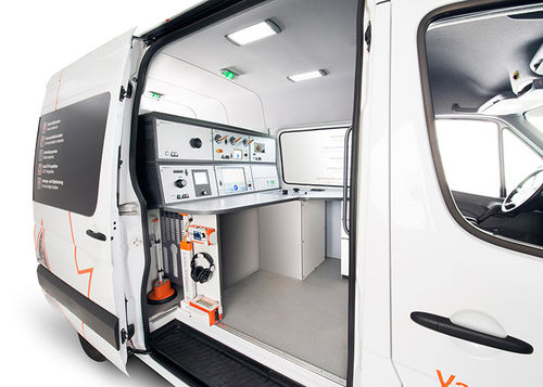test truck / for power distribution networks / diagnostic / for cable fault location