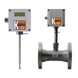 thermal flow meter / mass / for gas / with indicator