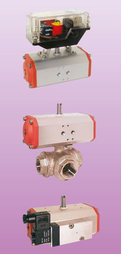 ball valve / pneumatically-operated / flow control / for water