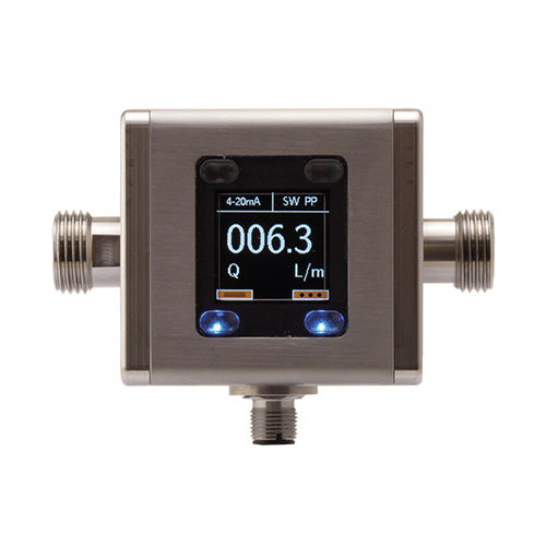 magnetic-inductive flow meter / for conductive liquids / compact