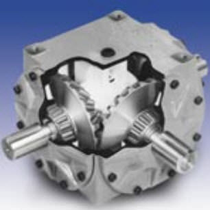 bevel gear reducer / orthogonal / high-torque / compact