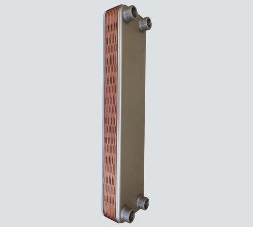 double-wall plate heat exchanger / liquid/liquid / stainless steel / copper