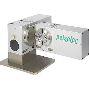 electric rotary table / tilting / for machine tools / pneumatic