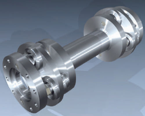 metal shaft / universal joint / double
