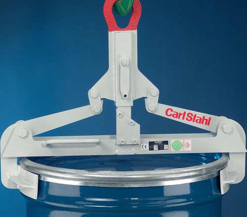 drum lifting clamp / vertical / manual