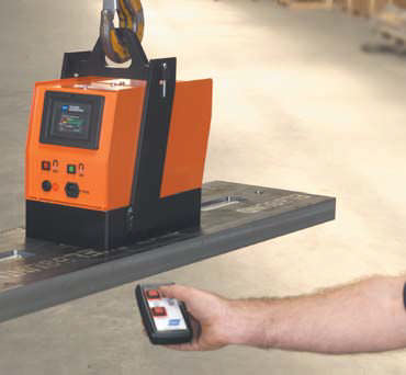 electrically switched electro lifting magnet / for sheet metal / battery-operated / compact