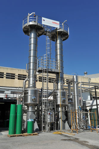 thermal evaporator / falling film / process / for dairy products