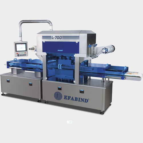 linear array tray sealer / automatic / vacuum / with modified atmosphere packaging