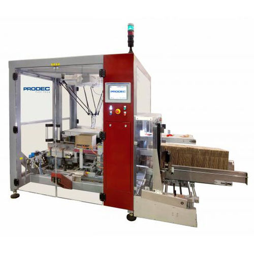 pick-and-place case packer / top-loading / robotic / for 2 bottles
