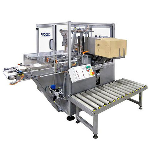 lateral case packer / semi-automatic / for rectangular containers / compact