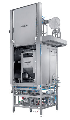 solvent cleaning machine / water / automatic / with dryer