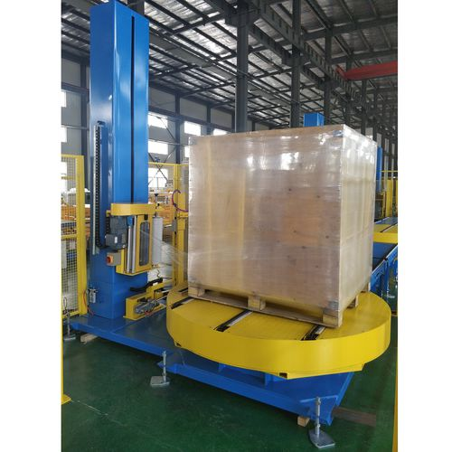 automatic pallet wrapping machine / stretch film / for pallets / turntable