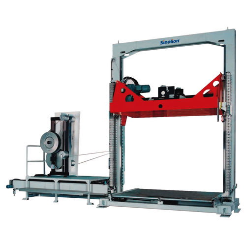 fully-automatic strapping machine / pallet / unmanned / lateral
