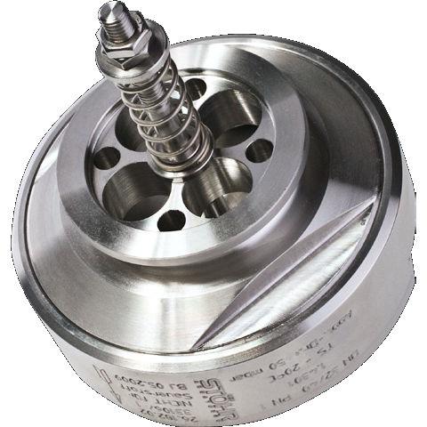 gas pressure relief valve / vacuum / low-pressure / flange