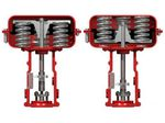 pneumatic valve actuator / linear / piston / spring-return