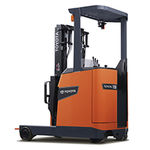 electric reach truck / stand-on / for warehouses / handling