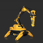 remote-controlled demolition robot / compact / for the nuclear industry