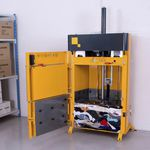 vertical baling press / front-loading / for textiles / clothing