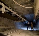 belt conveyor / for the mining industry / floor-mounted / wide