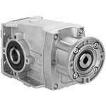 hypoid gear reducer / helical / orthogonal / high-power
