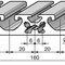 aluminum profile / grooved / flat / rectangular