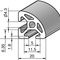 aluminum profile / round / triangular / industrial