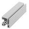 aluminum profile / rectangular / flat / round