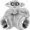 floating ball valve / manual / electric / pneumatic