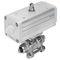 pneumatic ball valve actuator unit
