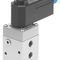 pneumatically-operated pneumatic directional control valve / solenoid-operated / 3/2-way / 5/2-way