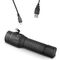 LED flashlight / tactical / rechargeable / water-resistant