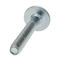 threaded bolt / flat-head / steel