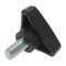 triangular knob / threaded / PA6 plastic / steel