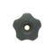 lobe knob / threaded / polypropylene / steel