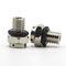 hexagonal plug / threaded / nickel-plated brass