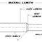 step drill bit / solid / multi-purpose / carbide
