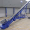belt conveyor / construction / for wood / inclined