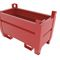 metal crate / transport / for powders / stackable