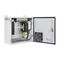 wall-mount enclosure / compact / powder-coated steel / sealed