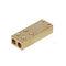 brass solderless terminal / screw-in / rectangular / non-insulated
