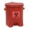 polyethylene garbage can