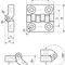 polyamide hinge / zinc / corner / screw-in