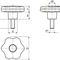 knurled knob / lobe / steel / polyamide