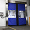 sliding door / sectional / stainless steel / fabric