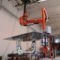 pneumatic manipulator / with gripping tool / for mirrors / for sheet metal